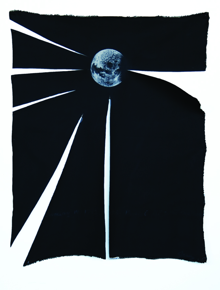#4_Moonbeam_#5_Oil on Cut Canvas_115X89 inches or 45X35cm_2010