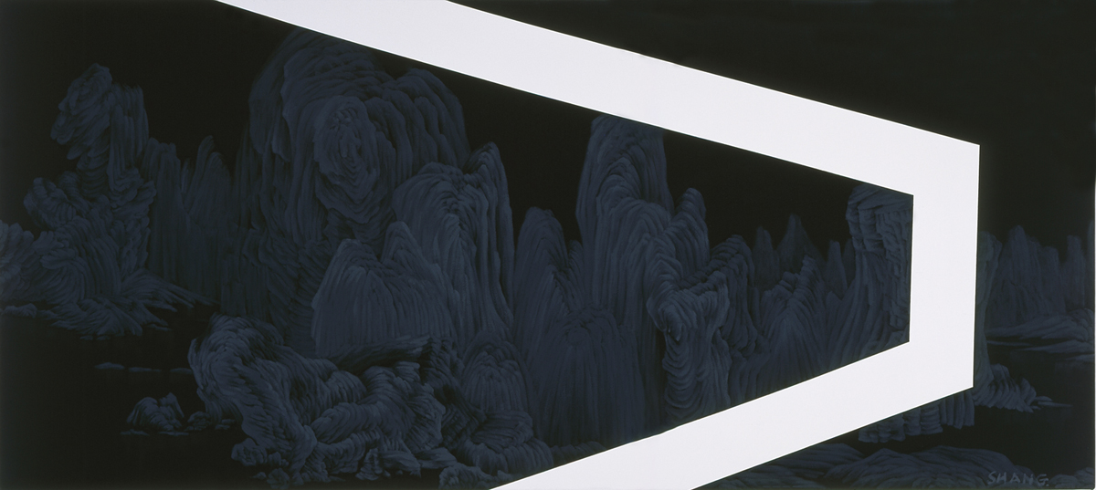 #5_Mountain #123_oil on canvas_40 X 90 inches or 101cm X 226cm_1999-2001